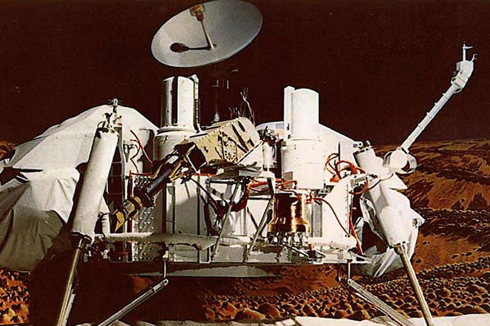 Прва стационирана сонда Викинг 1 , Викинг 2, 1976.