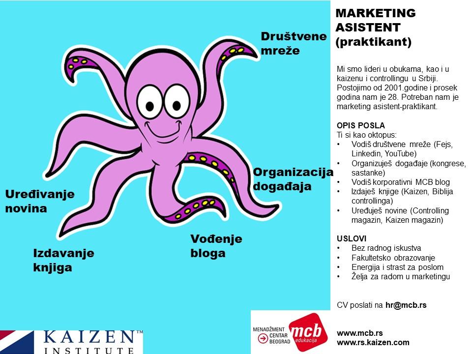MEF Fakultet - Oglas za marketing praktikanta