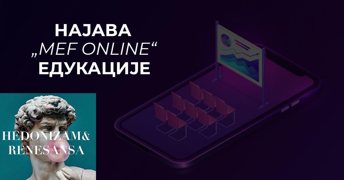 MEF fakultet - Едукација MEF online